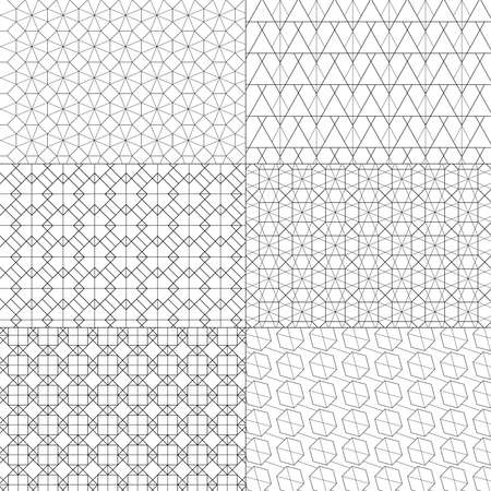 Vector set of minimal pattern. Geometric Line and shape design. Vector Illustrate. Standard-Bild - 152253727