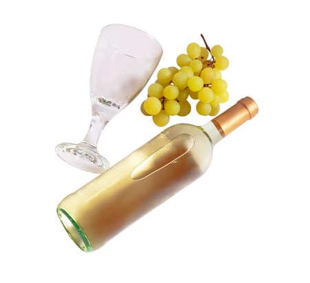 wineglass: White wine, wineglass, grape
