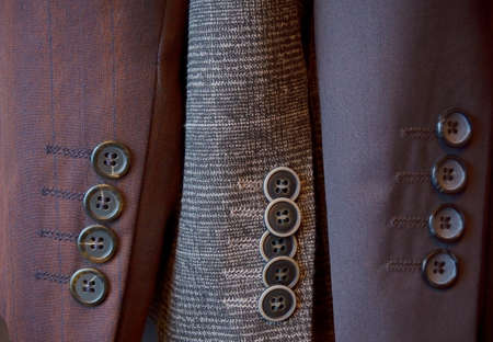 sleeve: Buttons on a sleeve of mans suit