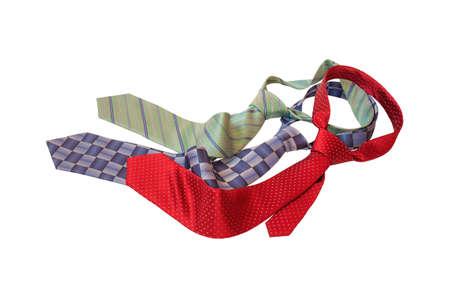 Stylish neckties isolated on white. Zdjęcie Seryjne