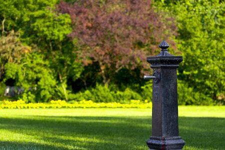 dry fountain in the park, in Budapest, Margit-sziget Stock Photo - 7321861