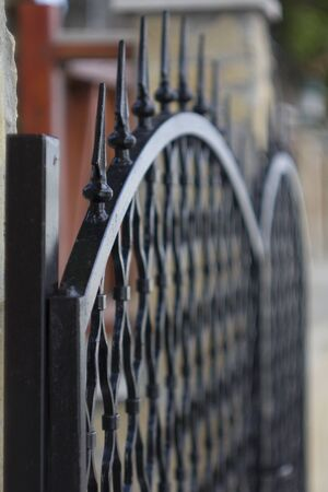 Black iron gate photo