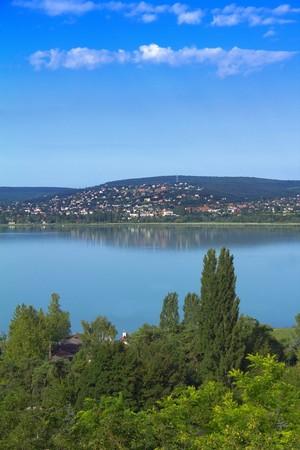 The view of Balatonalmadi, and the lake Balaton