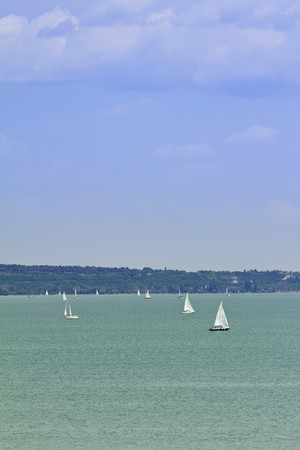 sailing ships, boats and yachts on the lake