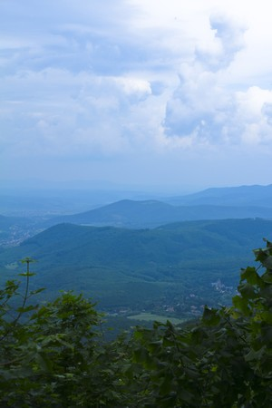 The landscape of the mountain Matra from a panoramic view