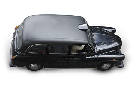 motor de carro: Taxi de Londres, aislado en blanco, sombra,