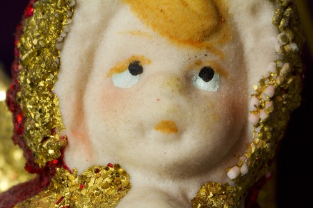 Red and gold christmas angel macro, closeup Stock Photo - 7833275