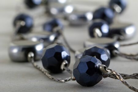 bijoux: macro of shiny bijoux necklace, selective focus