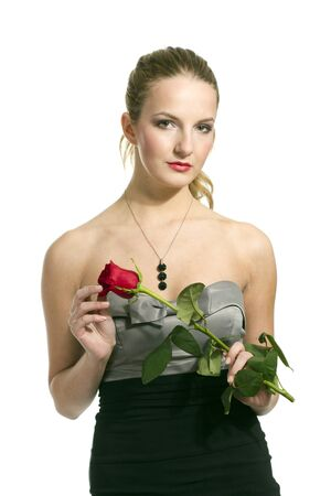 Girl with rose on Valentine