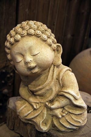 smiling buddha: Peaceful Little Monk