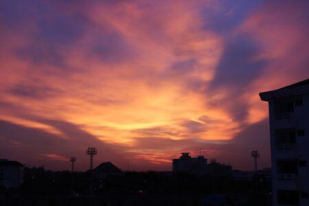 buliding: Magic Sky sunset