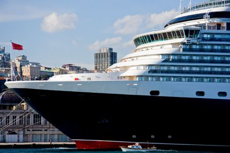 Cruise Ship at harbour photo