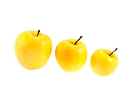 upgrowth: golden delicious juicy apples isolated on white background