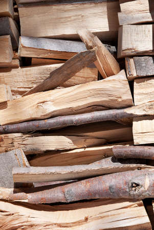 background of cutted pine logs photo