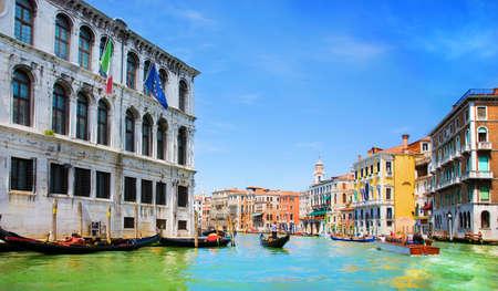 Venice Grand canal with gondolas, Italy Stock Photo - 18488228