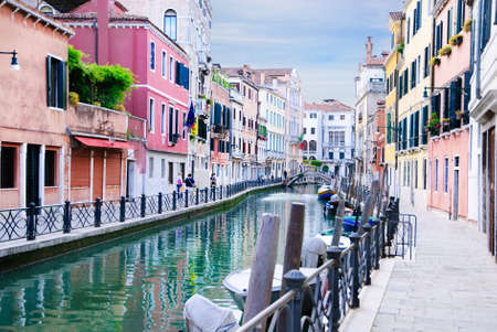 Venice canal, Italy in summer bright day photo