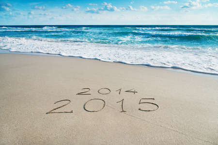 season 2014-2015 concept on sea sandy beach