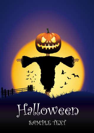 autumn scarecrow: Pumpkin head scarecrow