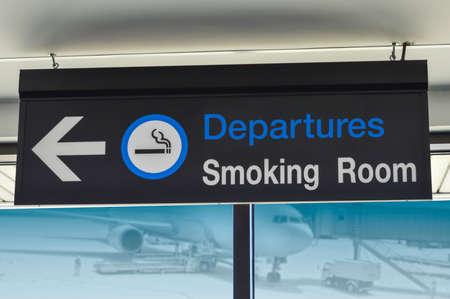aviators: Signage for smoking room at airport