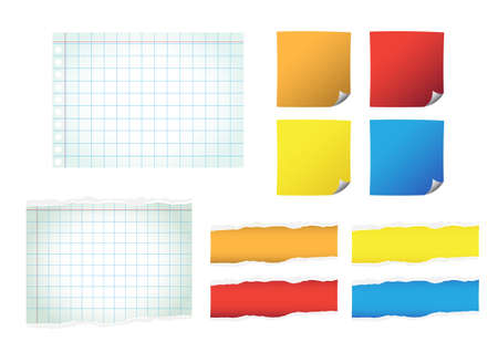 Set of color paper vector Vector
