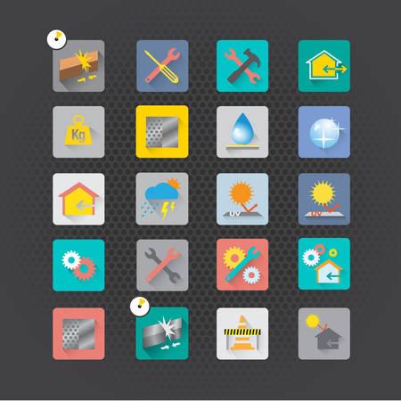 engineering icon: Set of maintenance icons vector design Illustration