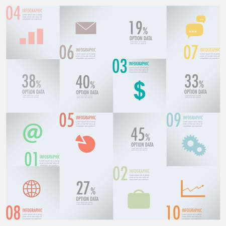 Modern business infographic elements vector