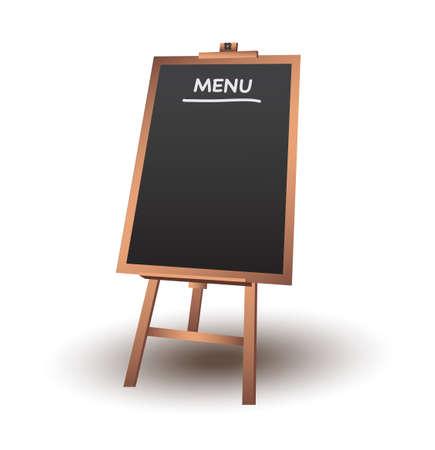Blank menu chalkboard in wooden frame vector