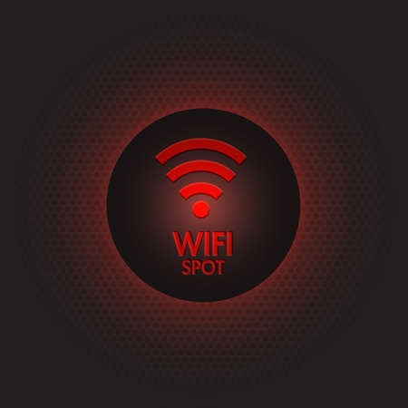 Abstract red wifi spot vector design