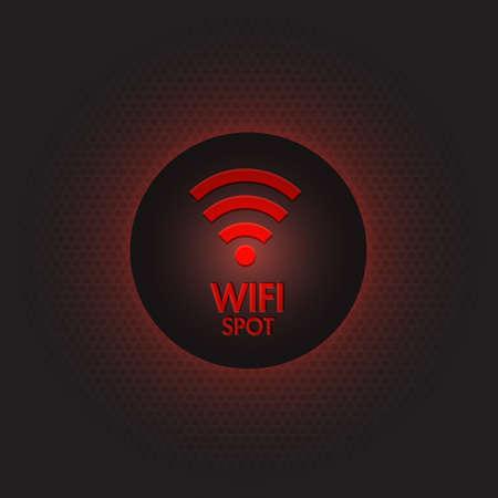 hot spot: Abstract red wifi spot vector design