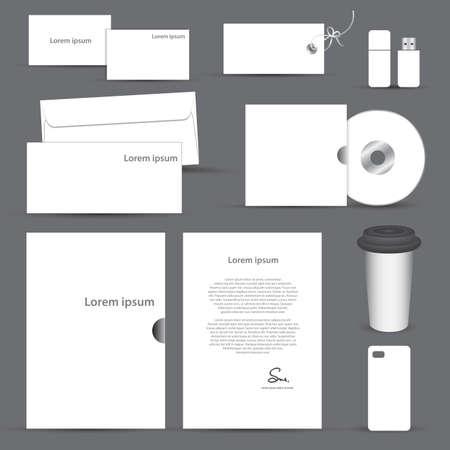 Set of blank stationery vector Иллюстрация