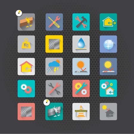Set of maintenance icons vector design Vector