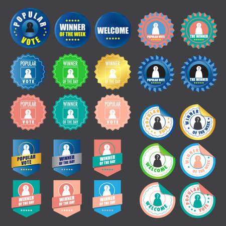 Set of badges design vector