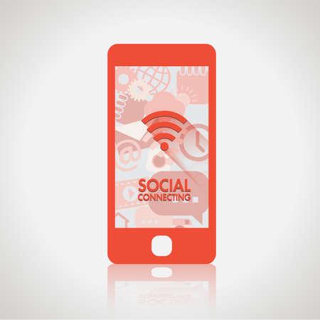 Social network element and icons vector Иллюстрация
