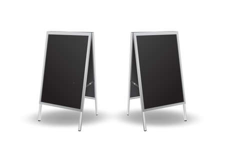 Illustration of blank black sandwich board Stok Fotoğraf - 40286410