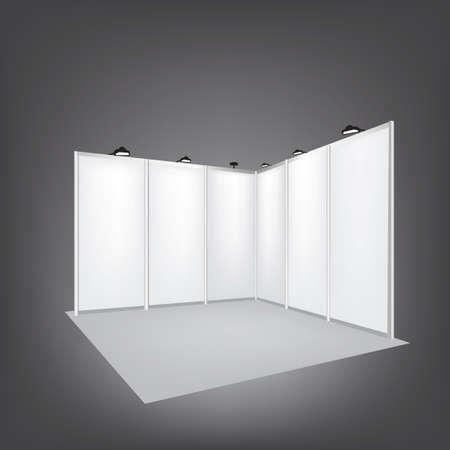 벡터 빈 무역 전시회 스탠드