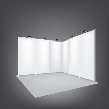 blank signs: Vector Blank trade exhibition stand