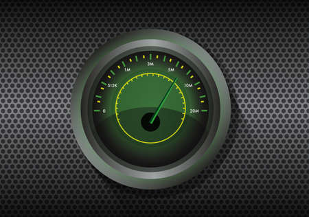 speed test: Internet speed test gauge vector