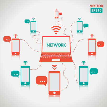 Network network element and icons vector