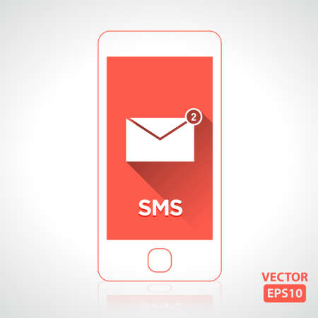 Message icon on smartphone illustration vector