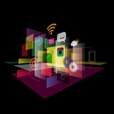 Abstract mobile application technology vector