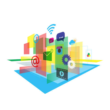 Abstract mobile application vector illustration