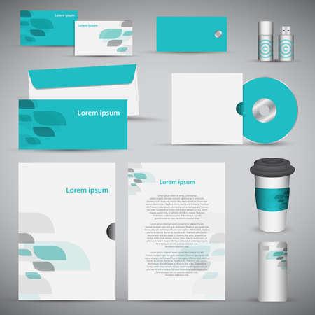 Briefpapier template design. Documentatie voor het bedrijfsleven