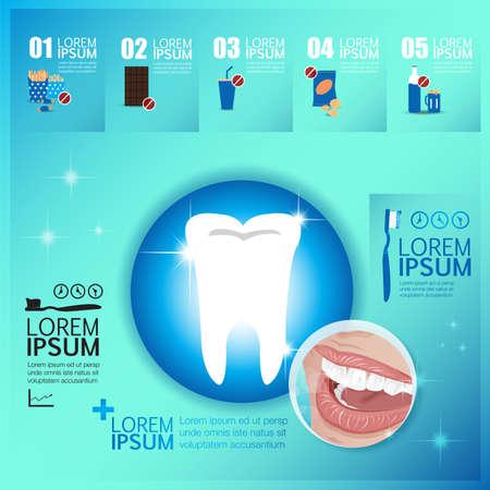 Tooth healthy infographic elements vector Иллюстрация