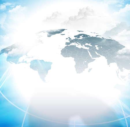 Global network background vector illustration Фото со стока