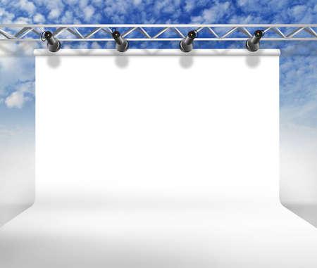 modern background: White empty background of a rectangular shape Stock Photo