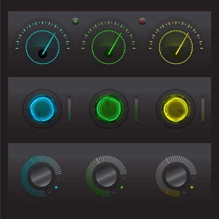 Set of button UI vector