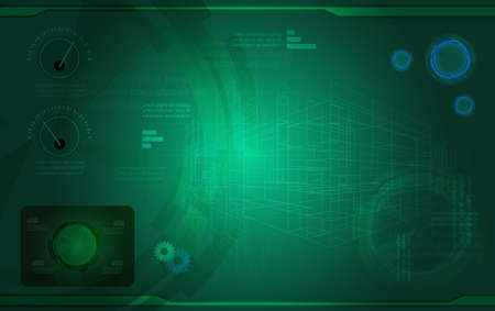 touch screen interface: Innovation UI design vector illustration
