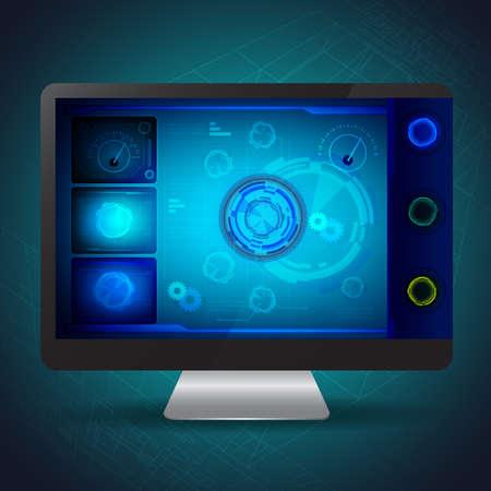 Innovation UI design vector illustration