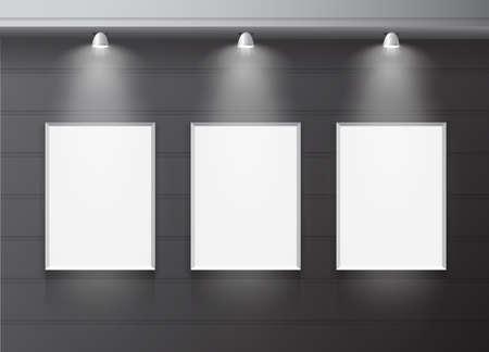 indoors: Blank billboard panel indoor vector