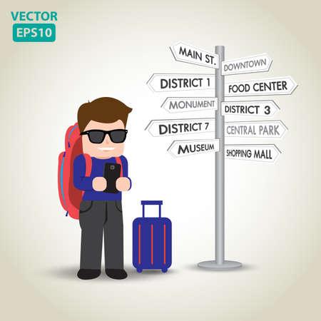 Illustration of travel vector Иллюстрация